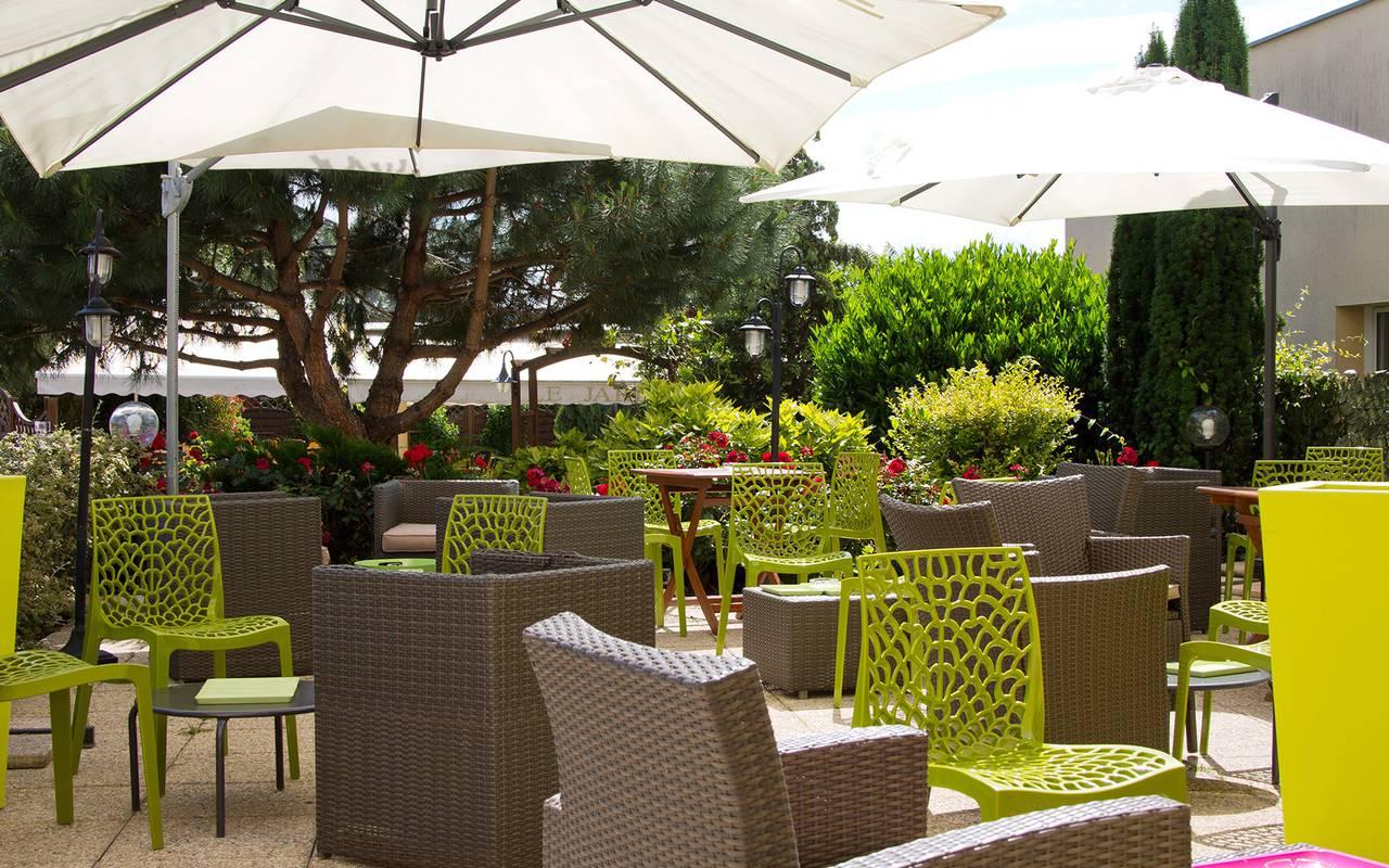 terrasse entspannung hotel issoire