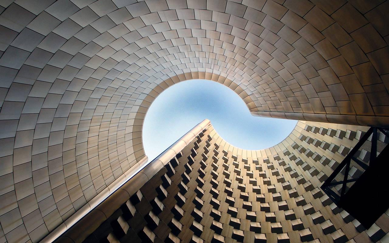 moderner architektur stadtzentrum auvergne