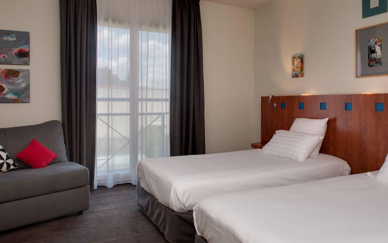 zimmer mit zwei einzelbetten hotel issoire