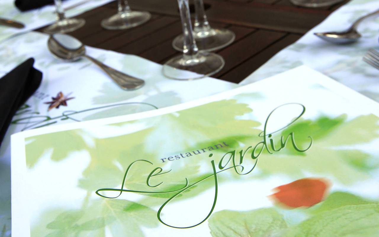 menu restaurant le jardin