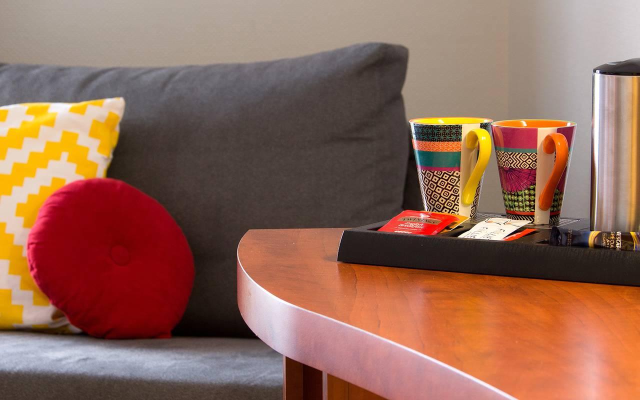 tea tray, comfortable hotel issoire