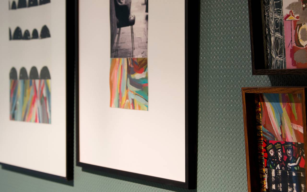 contemporary painting decoration room hotel auvergne
