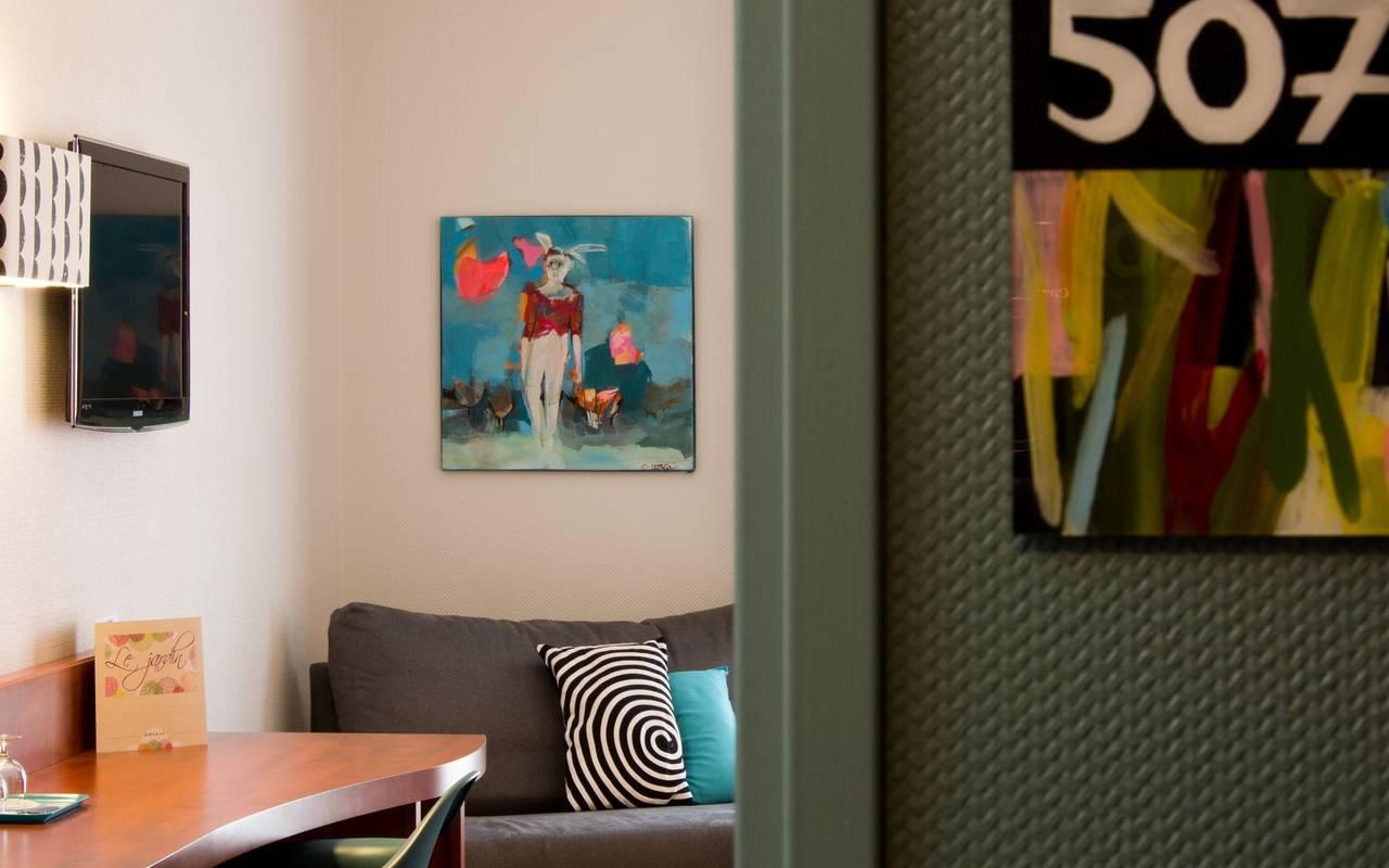 chambre double colorée auvergne