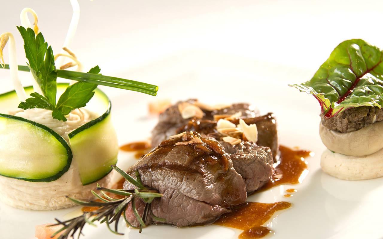 plat restaurant gastronomique